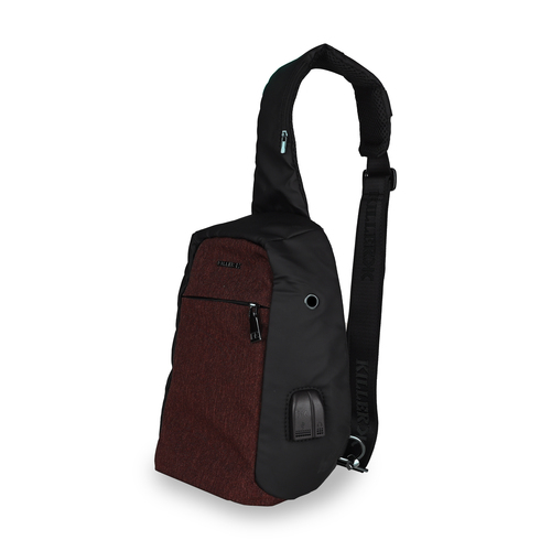 Killer Anti-Theft Sling Chest Bag RFID Protection- Red