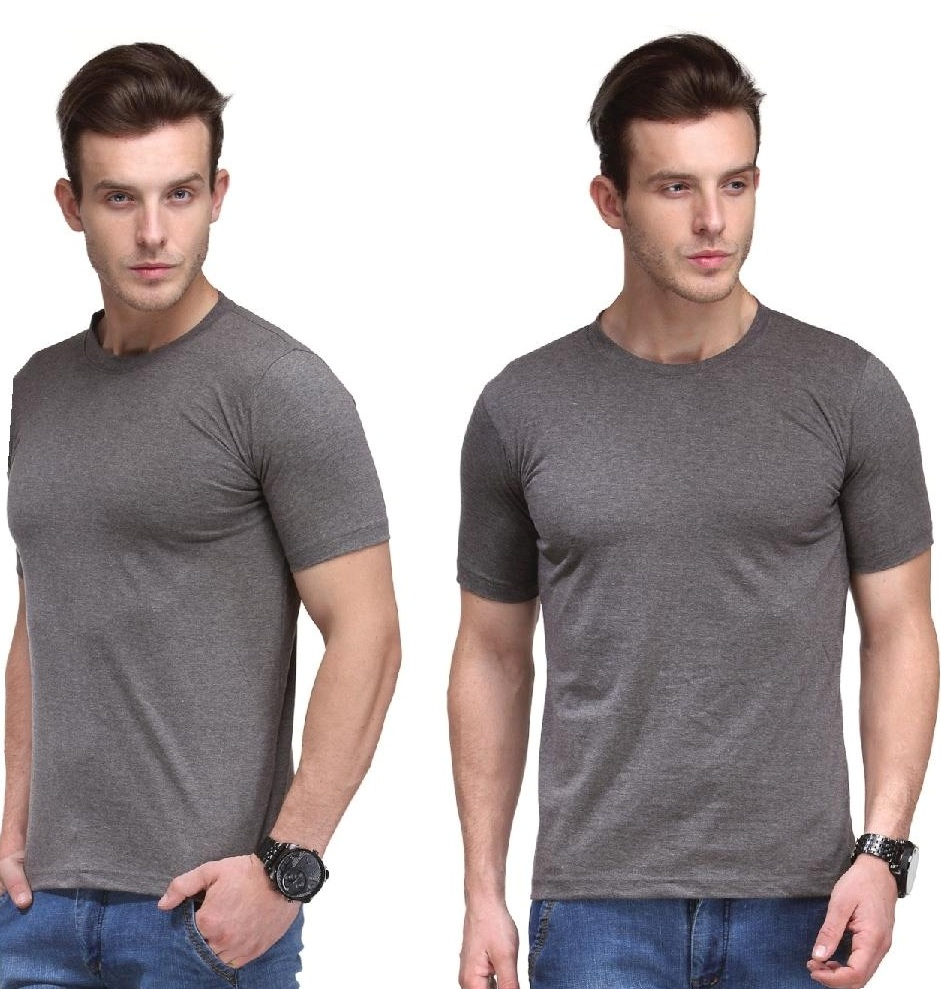 Bio Collection round neck Smart fit Charcoal Grey