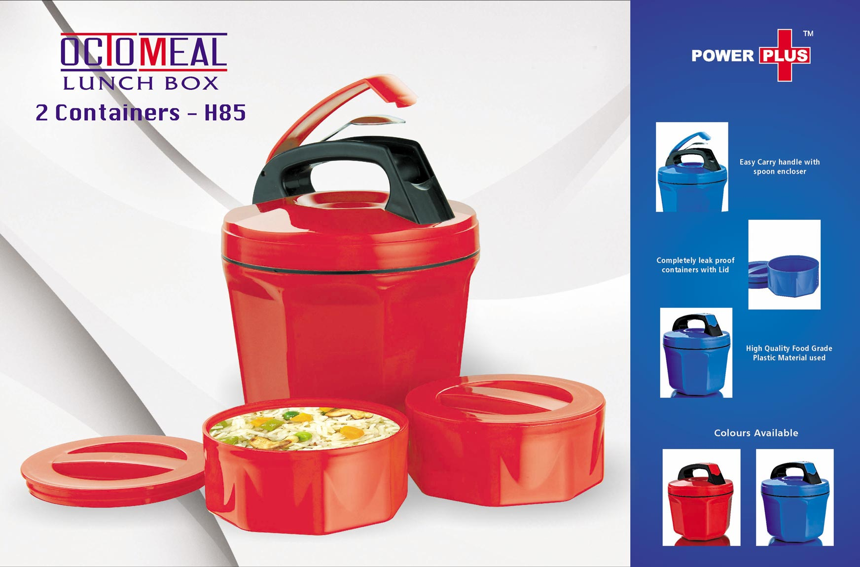 Octomeal Lunch box - 2 containers (plastic)