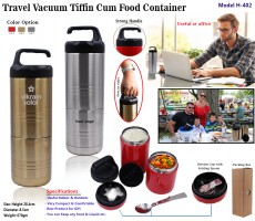 Travel Vacuum Tiffin Cum Food Container H-402