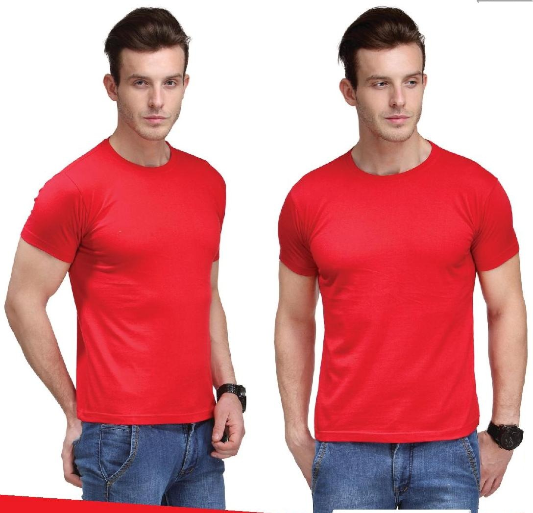 Bio Collection round neck smart fit Red