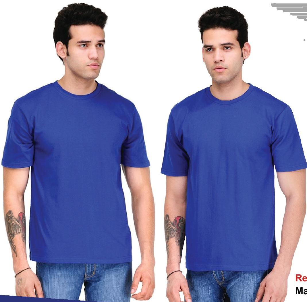 Bio Collection round neck smart fit Royal blue
