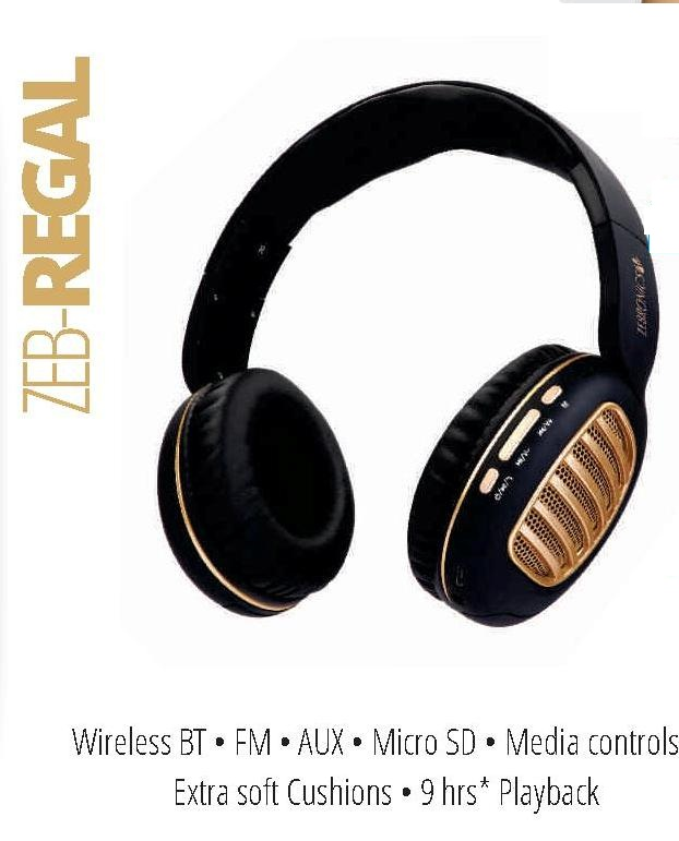 ZEBRONICS BLUETOOTH HEADPHONE REGAL