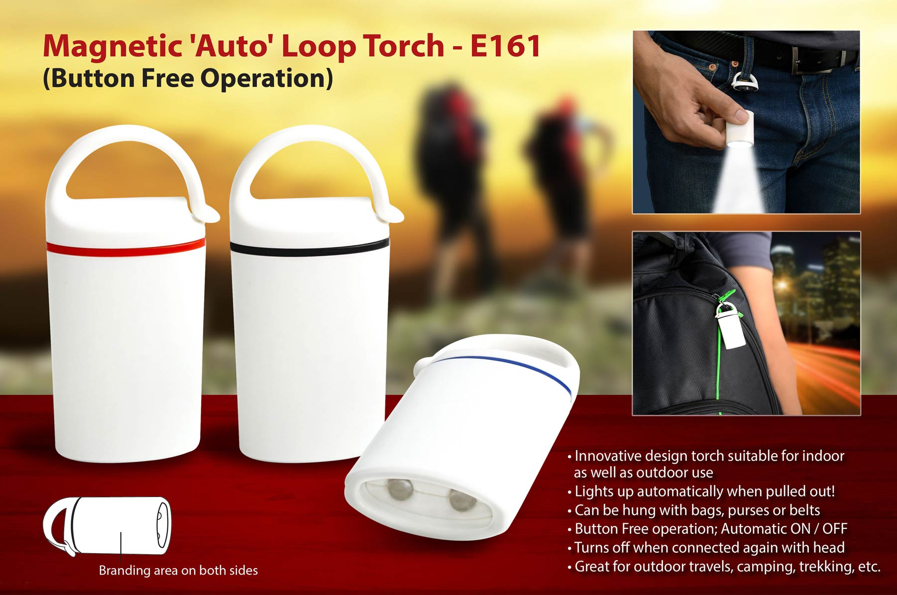 Auto loop torch: Magnetic, button free operation
