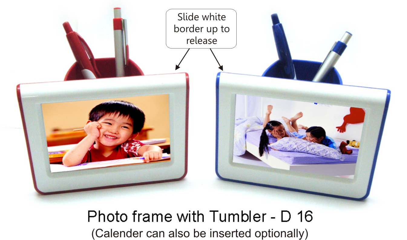 Photo frame with tumbler